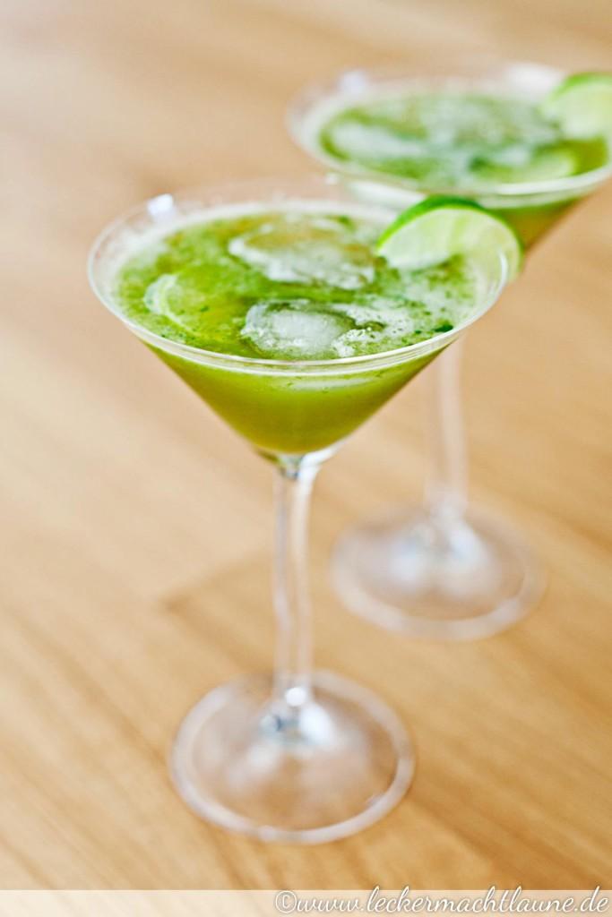 Basilikum-Limetten-Limonade