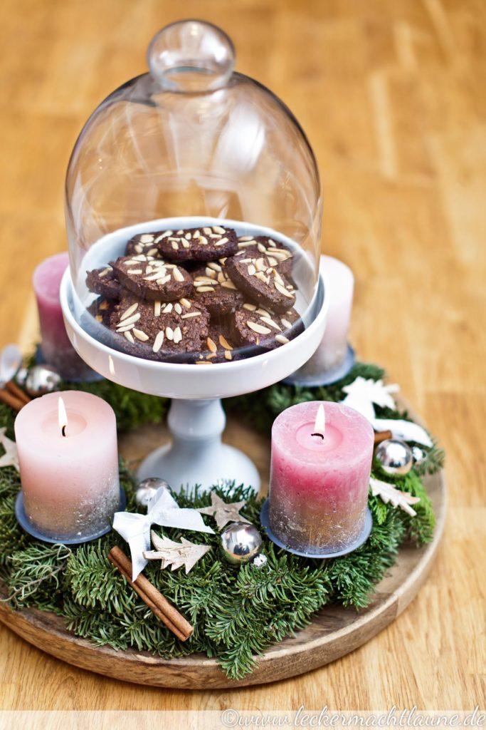 Schoko-Kokos-Plätzchen mit Mandeln