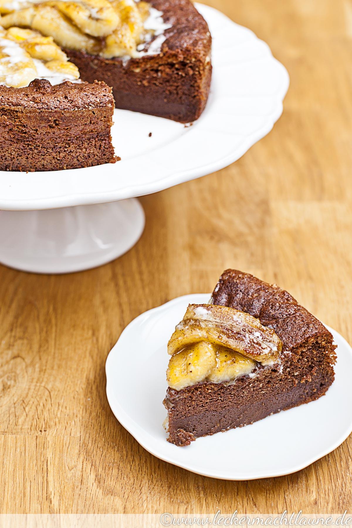 Schoko Kokos Kuchen Mit Karamellisierten Bananen Lecker Macht Laune