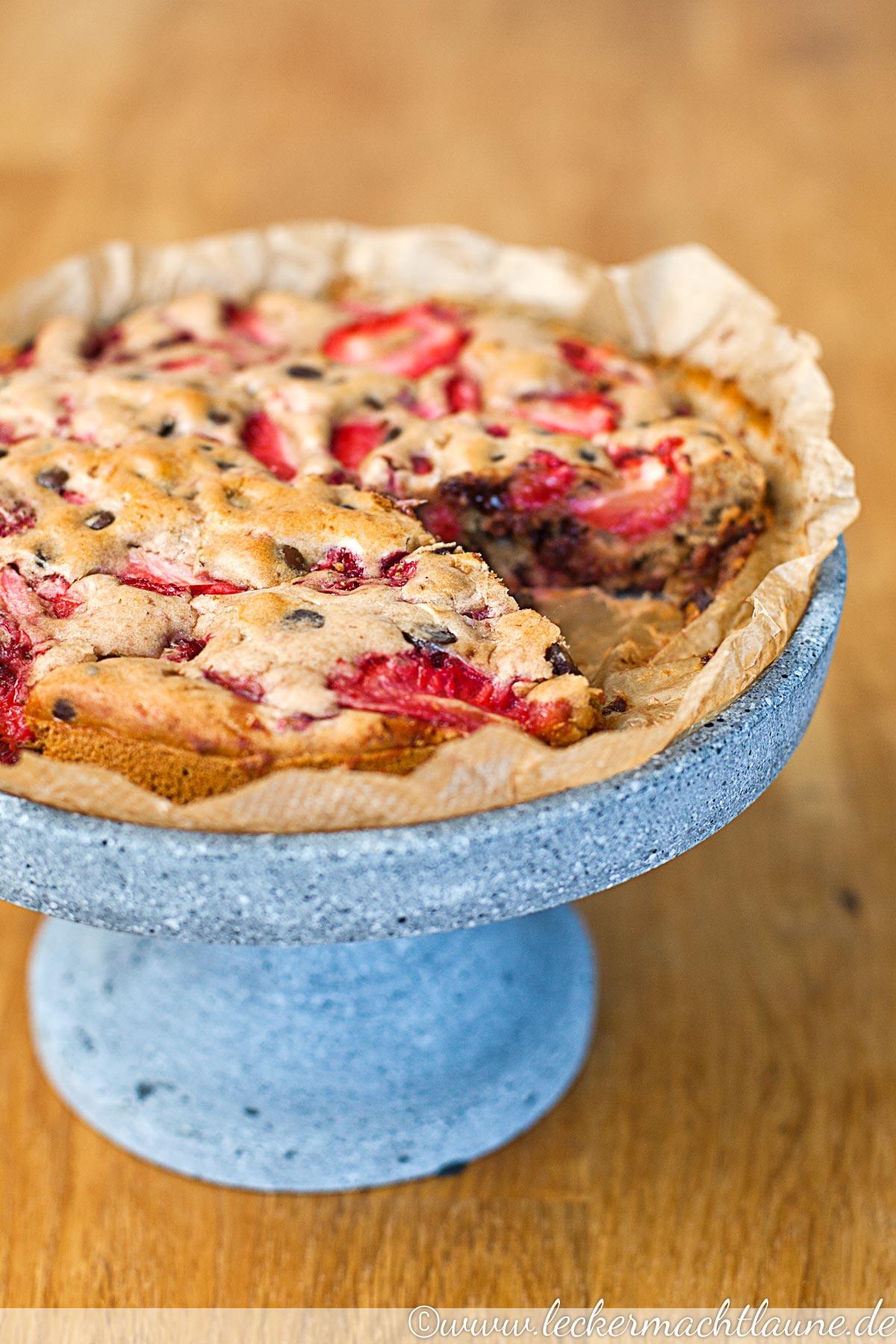 Einfacher Erdbeer Schoko Kuchen Lecker Macht Laune
