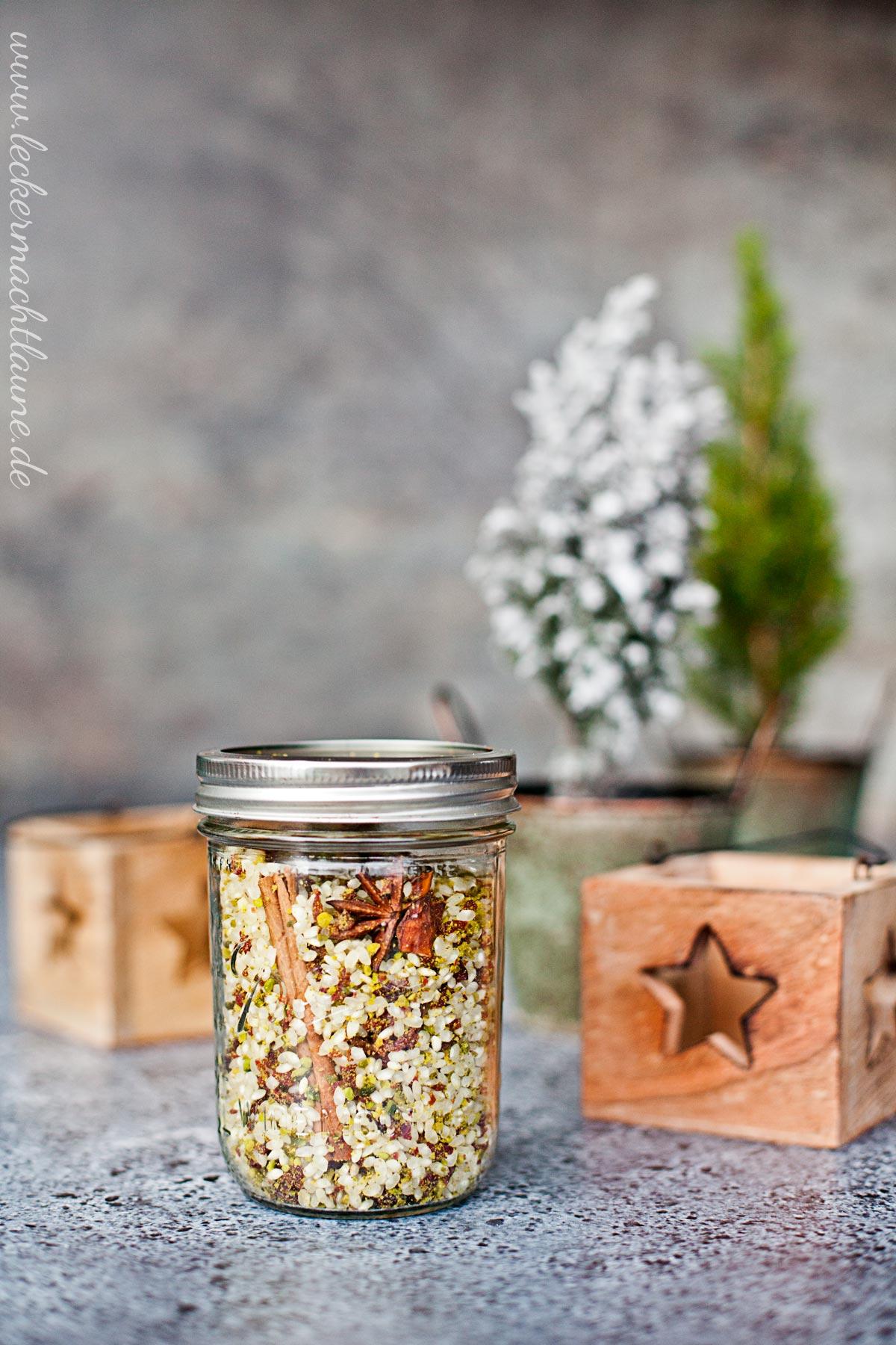 Weihnachtliche Milchreis-Mischung {geschenk aus der küche} | lecker ...
