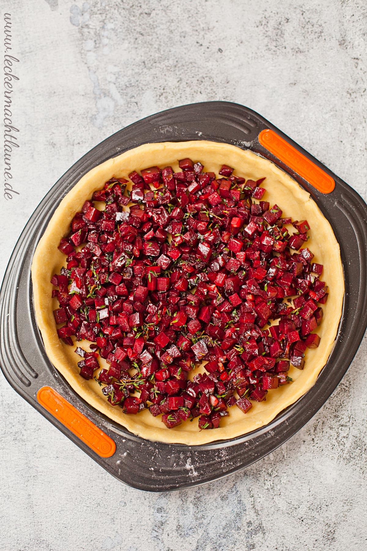 Rote-Beete-Quiche auf Cimata-Salat | lecker macht laune