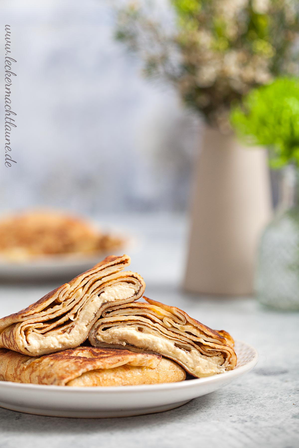 Pfannkuchen mit Quarkfüllung {frühstück}