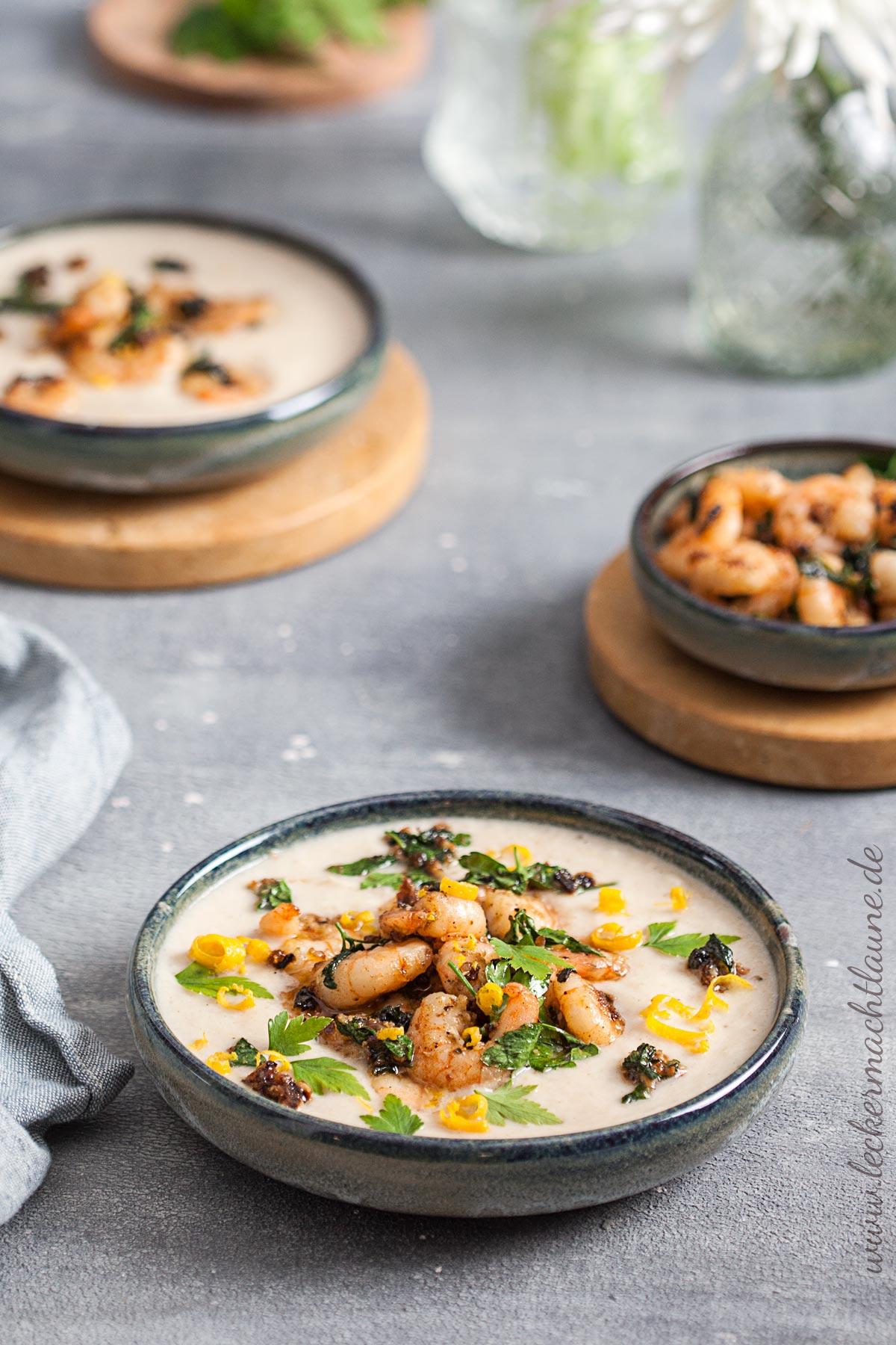 Blumenkohl-Knoblauch-Suppe
