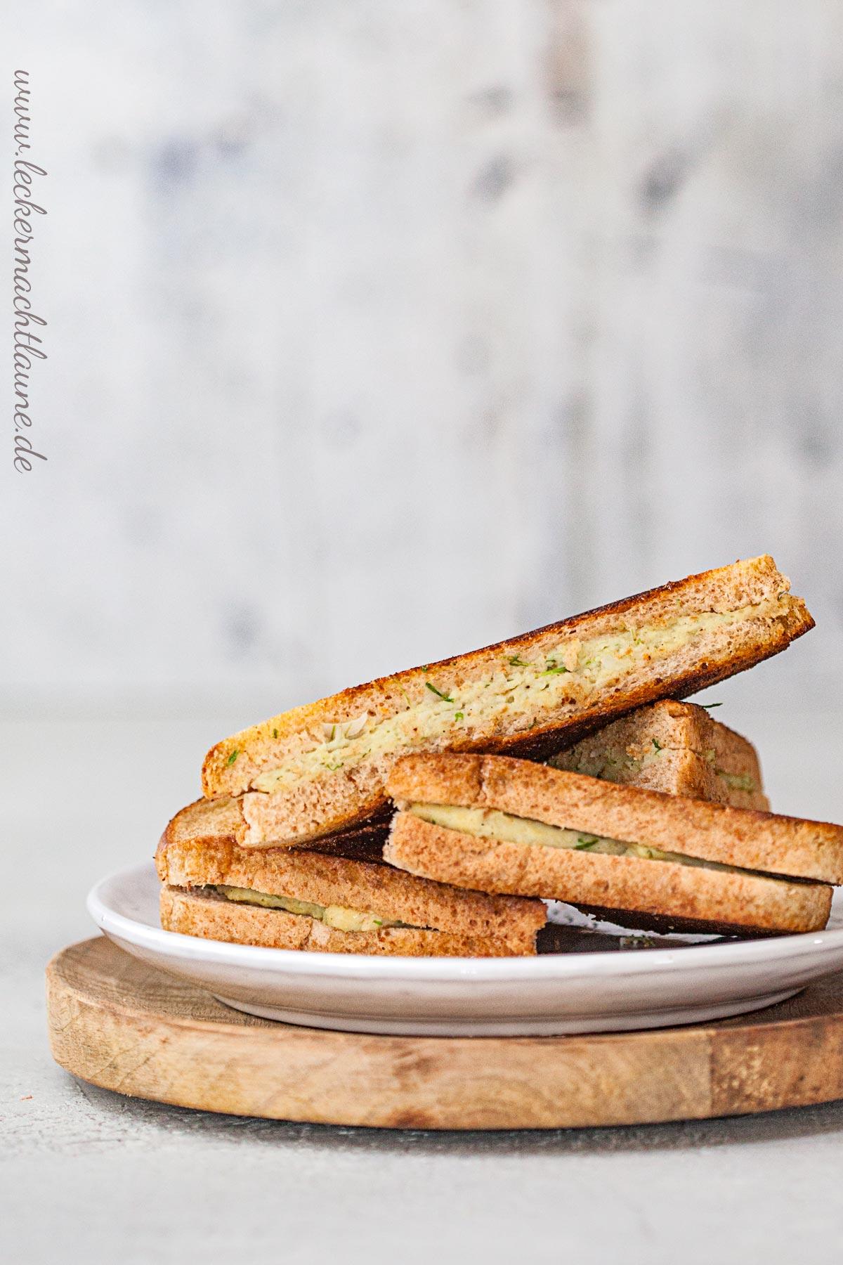 Gebratene Sandwiches mit Garnelenfarce | lecker macht laune