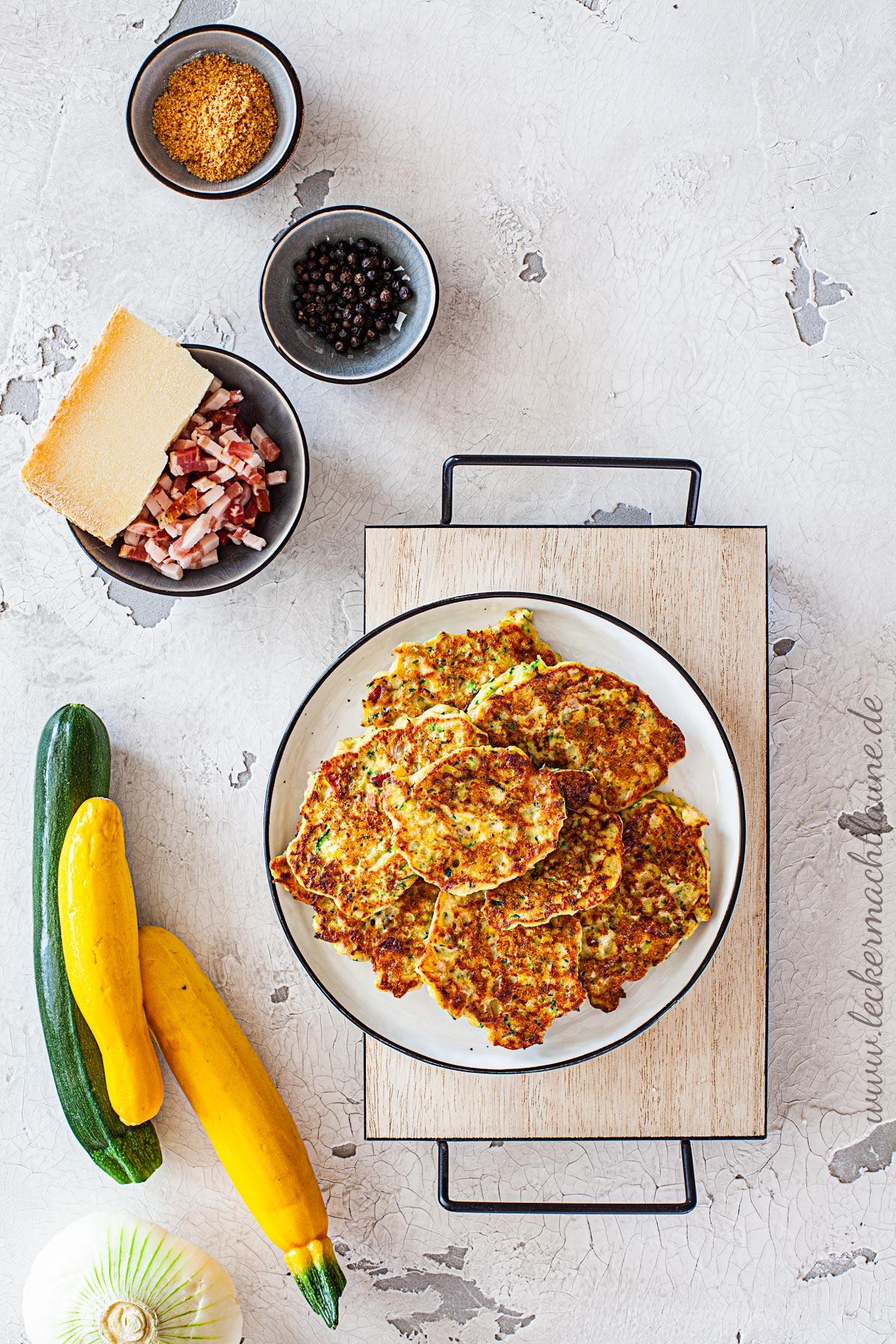 Zucchini-Ricotta-Puffer   lecker macht laune