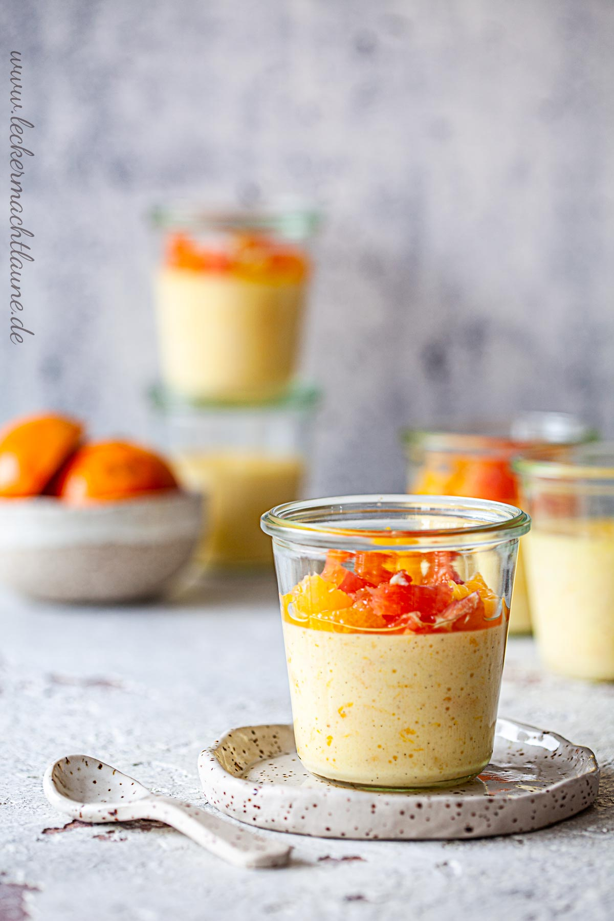 Orangencreme aus dem Ofen